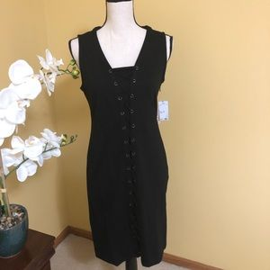 Philosophy black lace up dress size M